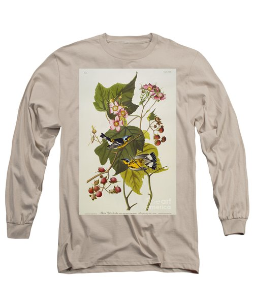 Black And Yellow Warbler Long Sleeve T-Shirt by John James Audubon
