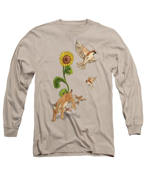 Bobcats And Beeswax Long Sleeve T-Shirt by Teighlor Chaney