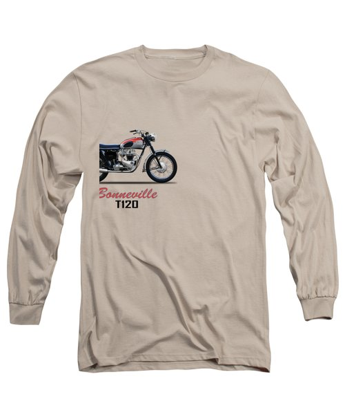 Bonneville T120 1962 Long Sleeve T-Shirt by Mark Rogan