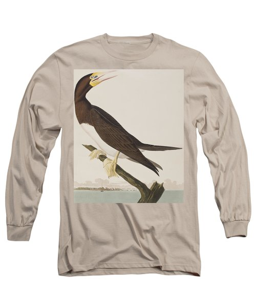 Booby Gannet   Long Sleeve T-Shirt by John James Audubon