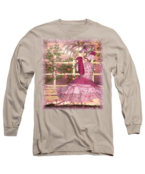 Breath Of Rose Fantasy Elf Long Sleeve T-Shirt by Sharon and Renee Lozen