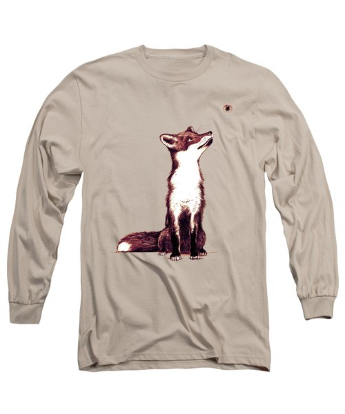 Brown Fox Looks At Thing Long Sleeve T-Shirt by Nicholas Ely