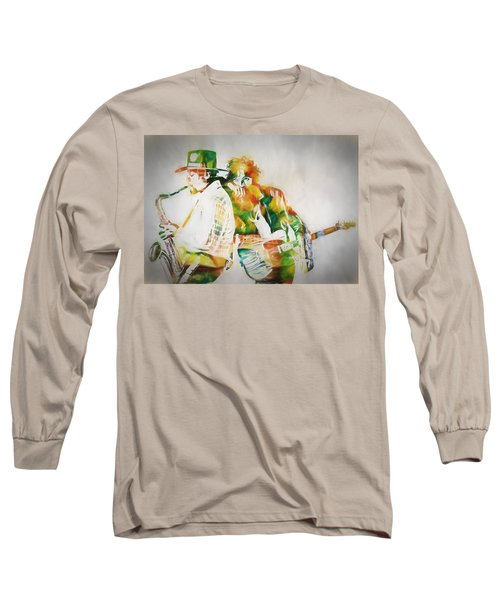 Bruce And The Big Man Long Sleeve T-Shirt by Dan Sproul