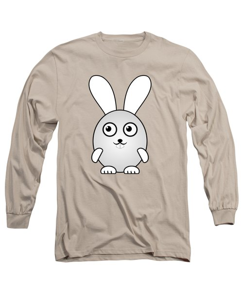 Bunny - Animals - Art For Kids Long Sleeve T-Shirt by Anastasiya Malakhova