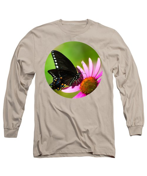 Butterfly In The Sun Long Sleeve T-Shirt by Christina Rollo