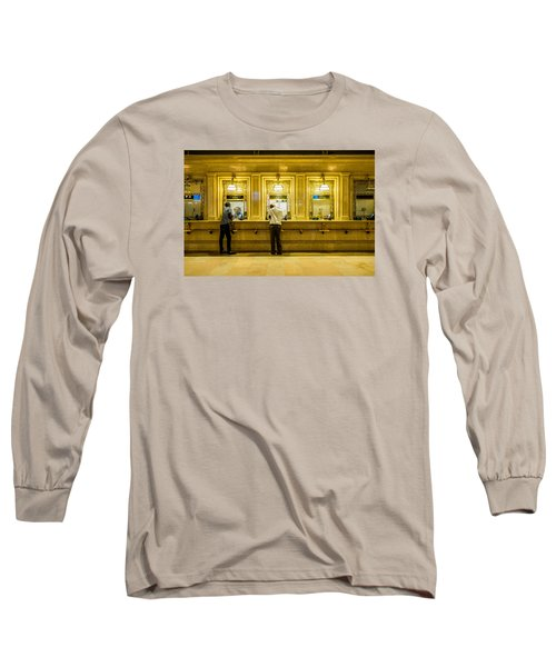 Long Sleeve T-Shirt featuring the photograph Buying A Ticket by M G Whittingham