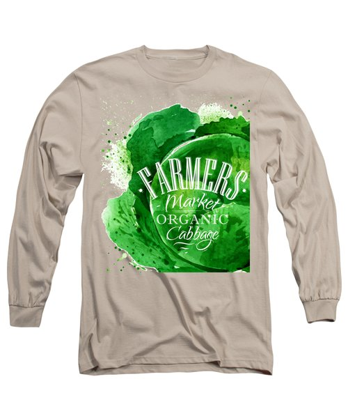 Cabbage Long Sleeve T-Shirt by Aloke Design