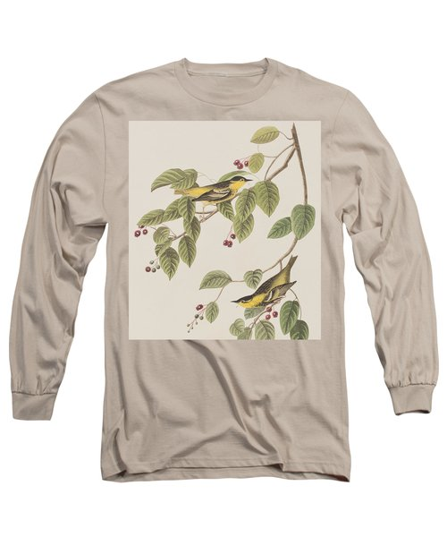 Carbonated Warbler Long Sleeve T-Shirt by John James Audubon