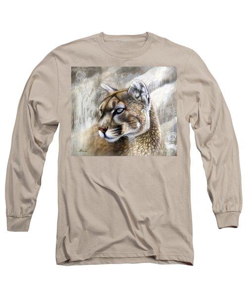 Catamount Long Sleeve T-Shirt by Sandi Baker