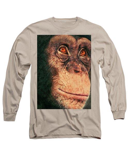 Chimp Long Sleeve T-Shirt by Jack Zulli
