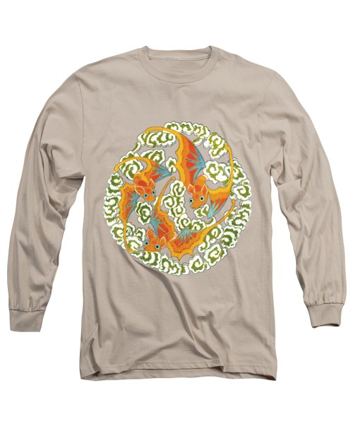Chinese Bats Tee Shirt Design Long Sleeve T-Shirt by Bellesouth Studio