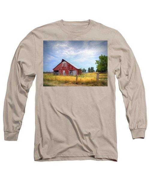 Christian School Road Barn Long Sleeve T-Shirt by Cricket Hackmann