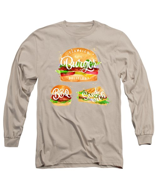 Color Burger Long Sleeve T-Shirt by Aloke Design