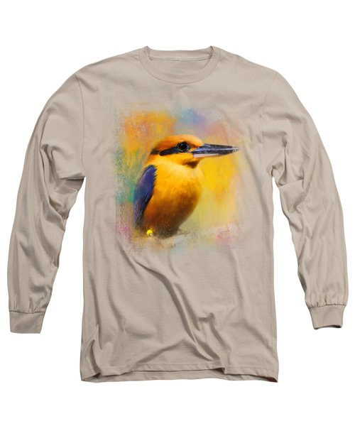 Colorful Expressions Kingfisher Long Sleeve T-Shirt by Jai Johnson