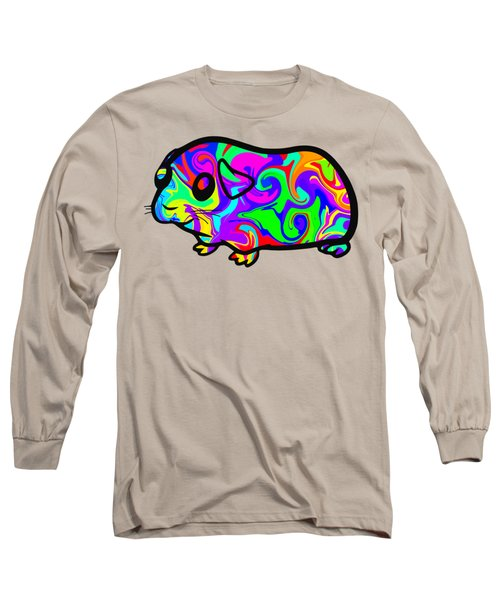 Colorful Guinea Pig Long Sleeve T-Shirt by Chris Butler