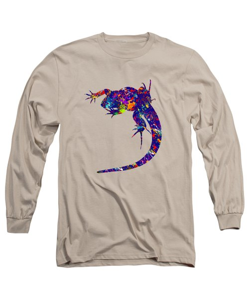 Colourful Lizard -2- Long Sleeve T-Shirt by Bamalam  Photography