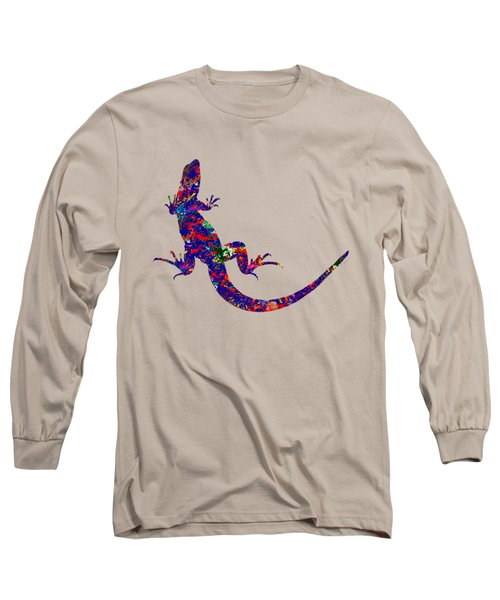 Colourful Lizard Long Sleeve T-Shirt by Bamalam  Photography