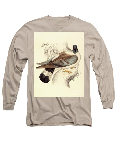 Columba Leuconota, Snow Pigeon Long Sleeve T-Shirt by Elizabeth Gould