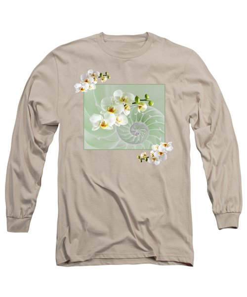 Cool Green Fusion Long Sleeve T-Shirt by Gill Billington
