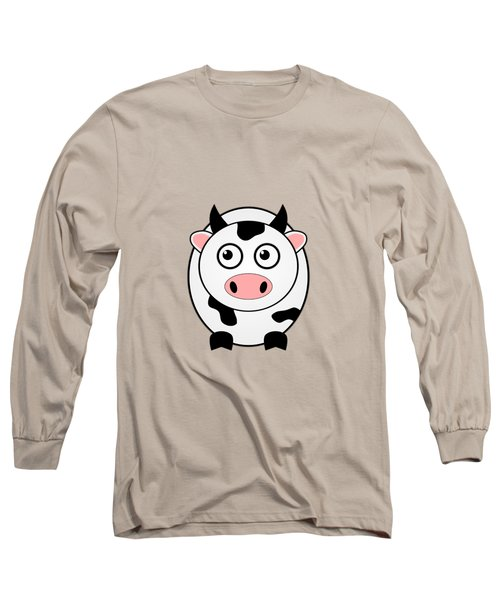 Cow - Animals - Art For Kids Long Sleeve T-Shirt by Anastasiya Malakhova