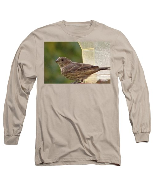 Crossbill Female Portrait      September    Indiana Long Sleeve T-Shirt by Rory Cubel