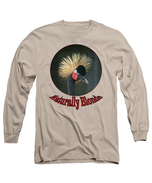 Crowned Crane - Naturally Blonde - Transparent Long Sleeve T-Shirt by Nikolyn McDonald