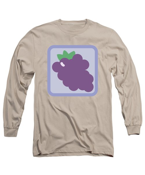 Cute Grapes Long Sleeve T-Shirt by Caroline Goh