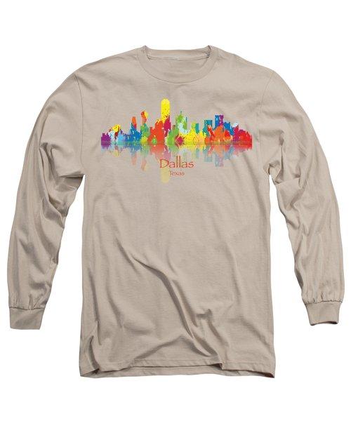 Dallas Texas Tshirts And Accessories Art Long Sleeve T-Shirt by Loretta Luglio