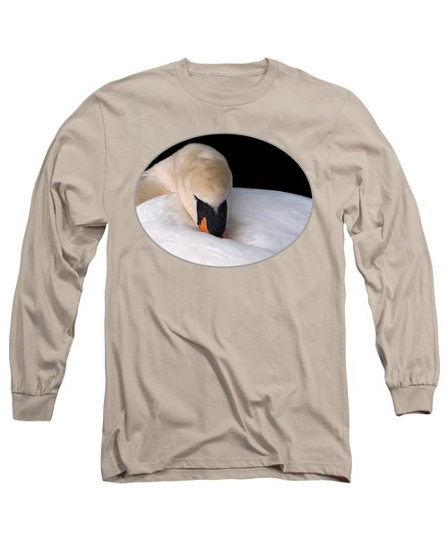 Do Not Disturb - Orange Long Sleeve T-Shirt by Gill Billington