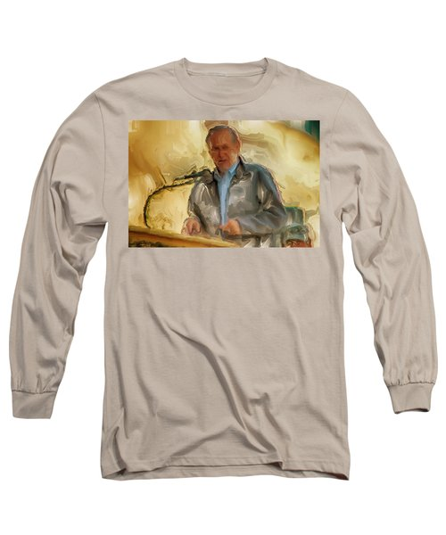 Donald Rumsfeld Long Sleeve T-Shirt by Brian Reaves