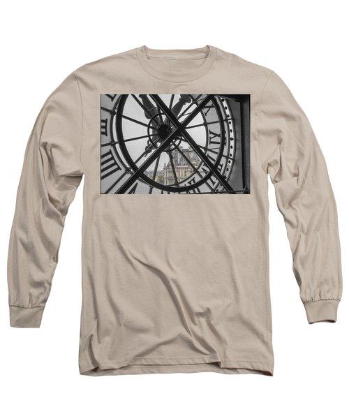 D'orsay Clock Paris Long Sleeve T-Shirt by Joan Carroll