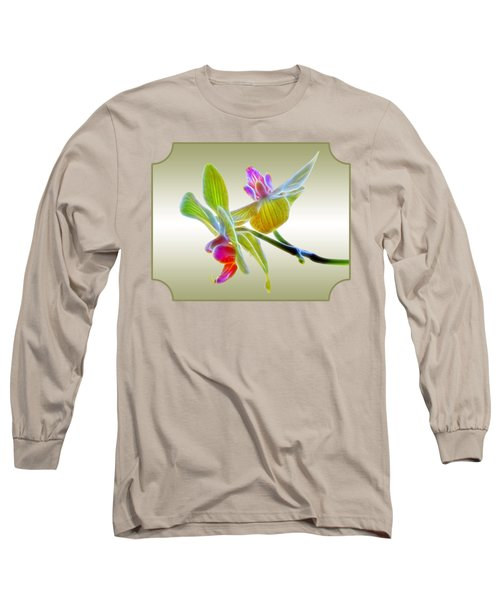 Dragon Glow Orchid Long Sleeve T-Shirt by Gill Billington