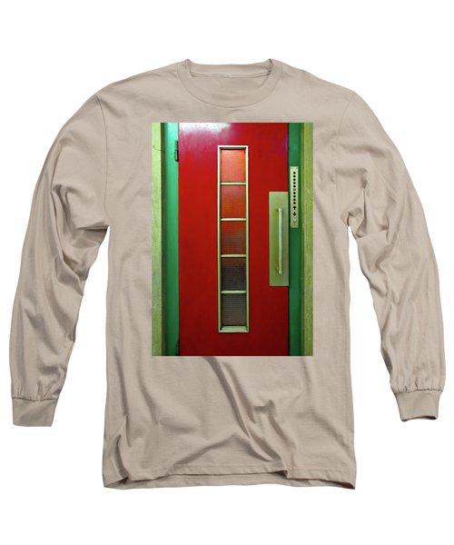 Elevator Door  Long Sleeve T-Shirt by Ethna Gillespie