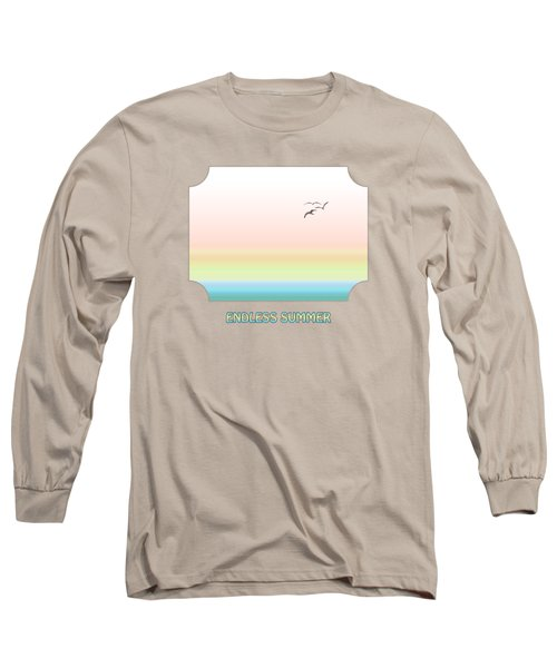 Endless Summer - Pink Long Sleeve T-Shirt by Gill Billington