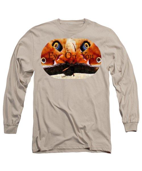 Eye On You - Silk Paint Long Sleeve T-Shirt by Anita Faye