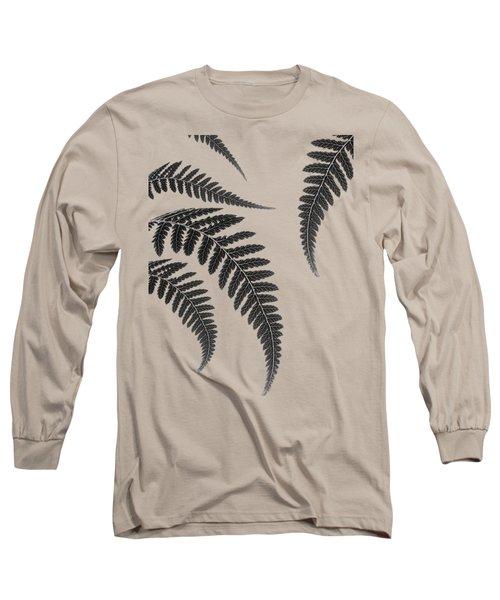 Fern Leaves Long Sleeve T-Shirt by Mark Rogan