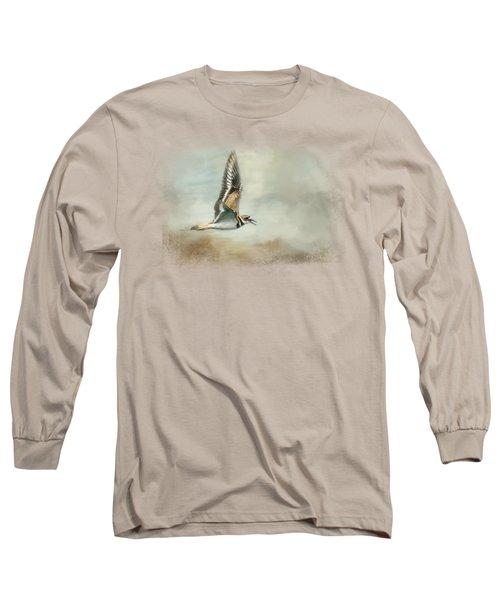 Flight Of The Killdeer Long Sleeve T-Shirt by Jai Johnson