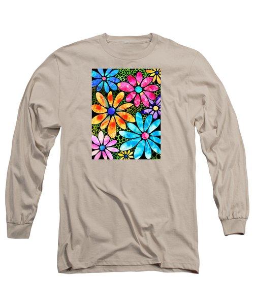 Floral Art - Big Flower Love - Sharon Cummings Long Sleeve T-Shirt by Sharon Cummings