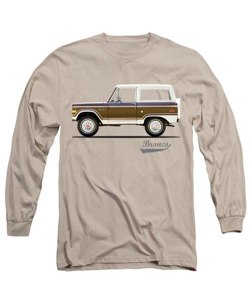 Ford Bronco Ranger 1976 Long Sleeve T-Shirt by Mark Rogan