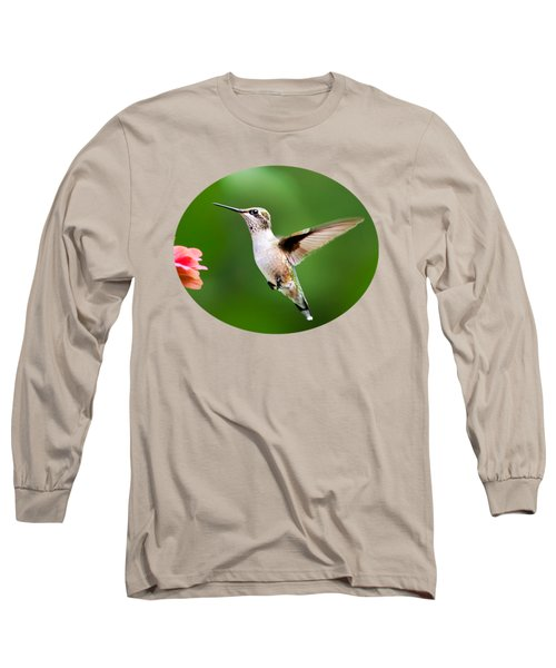 Free As A Bird Hummingbird Long Sleeve T-Shirt by Christina Rollo