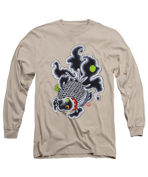 Goldfish Black Long Sleeve T-Shirt by Shih Chang Yang