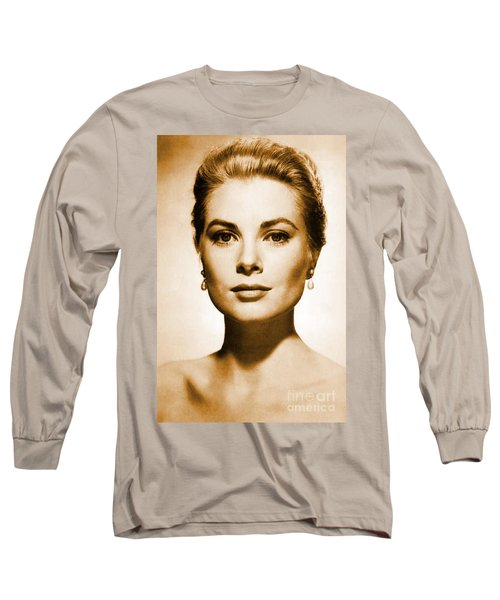 Grace Kelly Long Sleeve T-Shirt by Opulent Creations