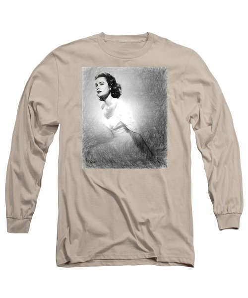 Grace Kelly Sketch Long Sleeve T-Shirt by Quim Abella