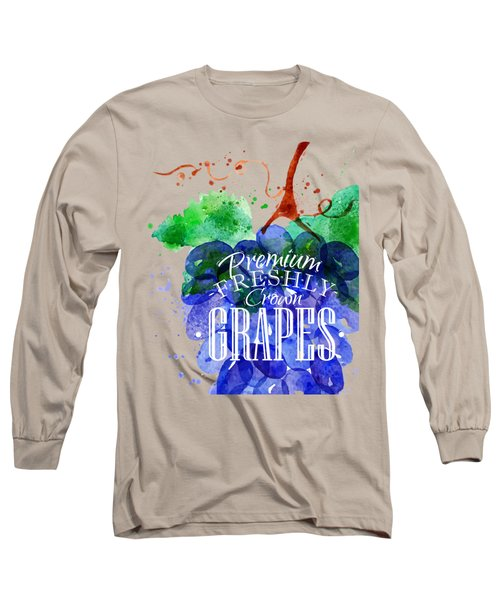 Grapes Long Sleeve T-Shirt by Aloke Design