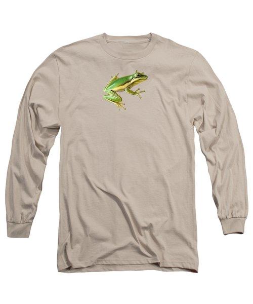 Green Tree Frog Long Sleeve T-Shirt by Sarah Batalka