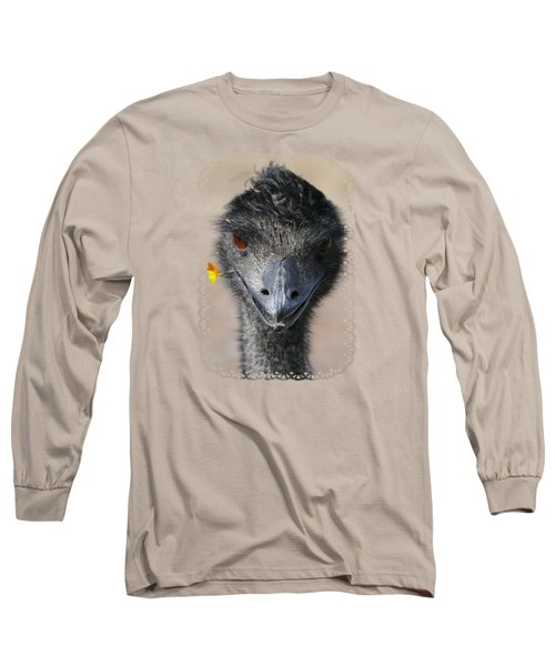 Happy Emu Long Sleeve T-Shirt by Ivana Westin
