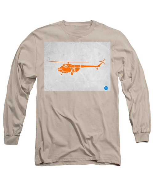 Helicopter Long Sleeve T-Shirt by Naxart Studio