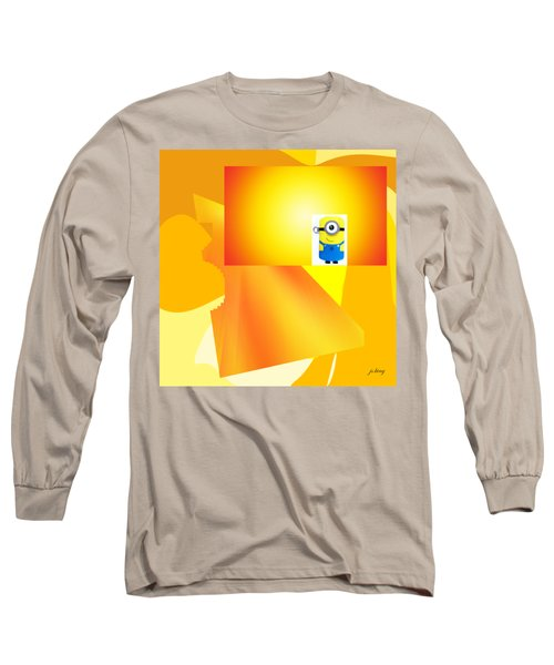Hello Yellow Long Sleeve T-Shirt by Jacquie King