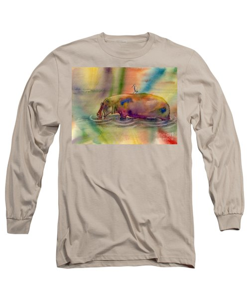 Hippy Dippy Long Sleeve T-Shirt by Amy Kirkpatrick