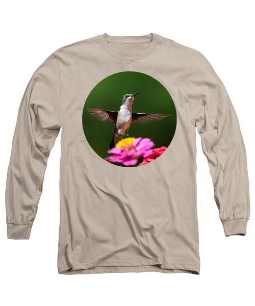 Hummingbird Long Sleeve T-Shirt by Christina Rollo
